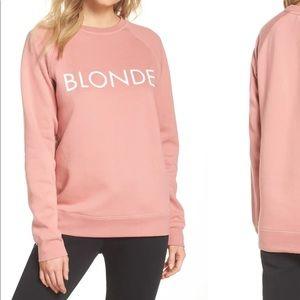 Brunette The Label Pink Oversized Logo Sweater